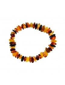 Elastic bracelet with flat amber stones 3180437 Nature d'Ambre 32,50€