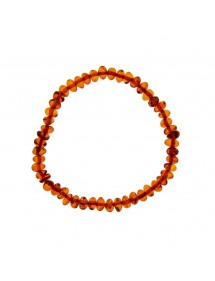 Elastic bracelet in small cognac amber stones 3180443 Nature d'Ambre 36,60€