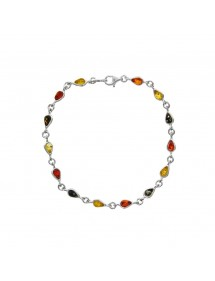 Amber and silver bracelet with small stones in the shape of a drop 3180461 Nature d'Ambre 72,90 €