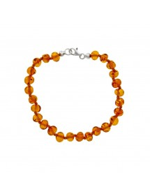 Round amber beads bracelet with silver clasp 3180189 Nature d'Ambre 36,00 €