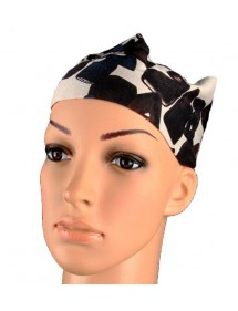 Headband taupe black pebbles
