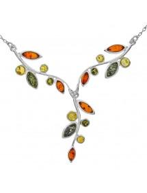 Collier ambre tricolore et argent Nature d'Ambre 116,00€ 116,00€