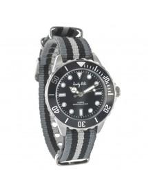 Montre élégance bracelet nylon rayures Lady Lili - Noires et gris foncé 45,00€ 45,00€