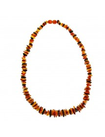 Necklace of multiple amber stones with screw clasp 65,00 € 65,00 €