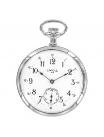 Laval 1878 pocket watch, dual display, 3 hands, silver 755256 Laval 1878 229,00 €