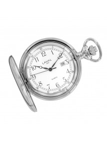 LAVAL chrome pocket watch, Arabic numerals with lid 755253 Laval 1878 109,00 €