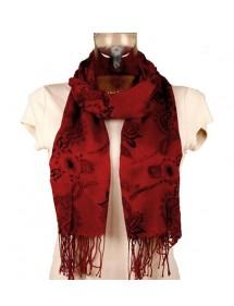 Foulard léger écrevisse et fleurs noire 47453 Paris Fashion 11,90€