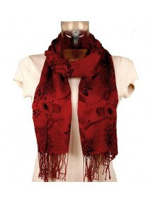 Leichte Schal Flusskrebsen und schwarze Blumen 47453 Paris Fashion 11,90€