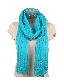 Echarpe d'hiver turquoise
