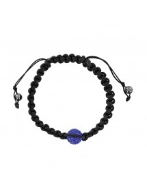 Black shamballa bracelet with blue crystal ball and hematite 29,90 € 22,90 €