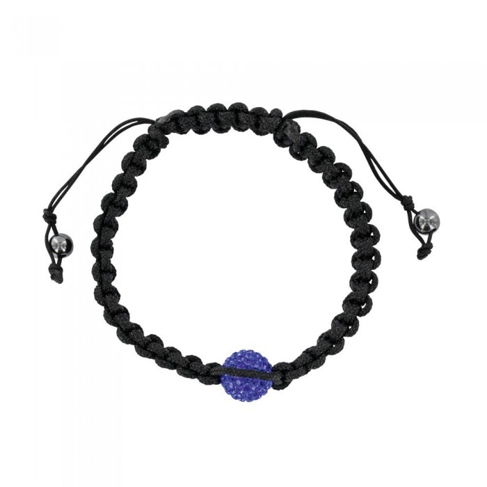 Black shamballa bracelet with blue crystal ball and hematite 888377 Laval 1878 29,90 €