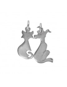 Rhodium silver pendant - cat and separable dog 3161062 Laval 1878 33,90 €