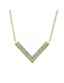 Halskette Mini-Chevron - vergoldeten Silber und synthetischen Steinen 39,90€ 31,90€
