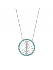Round necklace synthetic stones decorated with a silver tree 49,90 € 49,90 €
