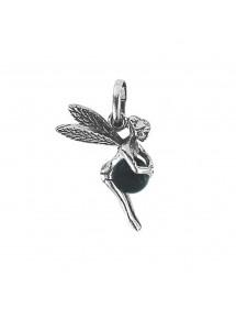 Pendentif petite elfe argent avec une boule teintée Onyx noir 27,90€ 27,90€