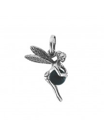 Silver elf pendant with black Onyx tinted ball 316991 Laval 1878 27,90 €