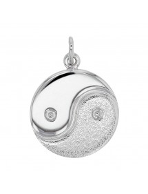 Yin and Yang pendant in rhodium silver 31610440 Laval 1878 32,90 €