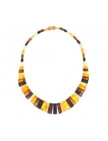 Collier de pierres rectangles en ambre multicolore 3170601 Nature d'Ambre 219,90€