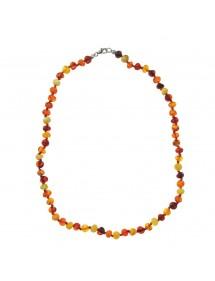 Collier de petites pierres rondes en ambre et fermoir argent 317060245 Nature d'Ambre 59,90€