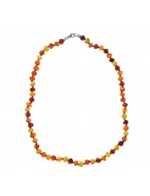 Necklace of small round stones in amber and silver clasp 317060245 Nature d'Ambre 54,50 €
