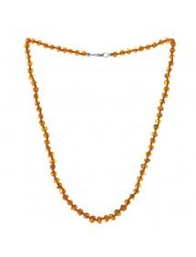 Collier avec des perles d'ambre rondes fermoir en argent 69,90€ 69,90€