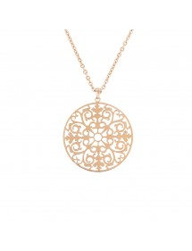 Pink steel necklace and rounded pendant 31710263R One Man Show 46,00 €