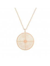 Pink steel target shaped necklace 31710262R One Man Show 46,00 €