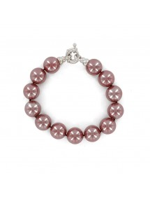 Bracelet en perles de Majorque violet