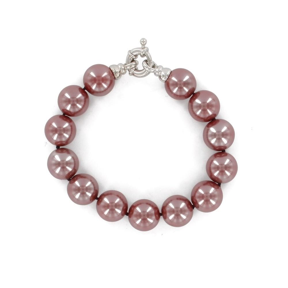 a5ec6be2ed45 Pulsera en auténticas perlas rojas de Mallorca.