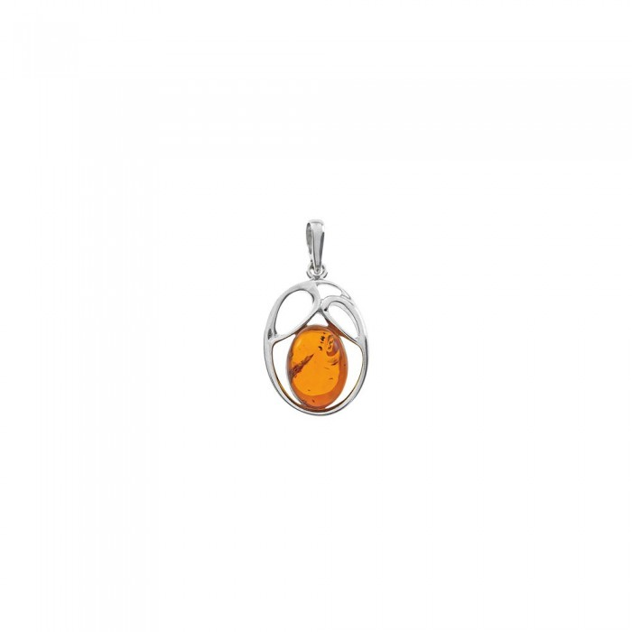 Openwork pendant in rhodium silver and amber 62,00 € 52,00 €