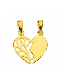 Gold plated separable heart pendant with a lace side 22,00 € 22,00 €