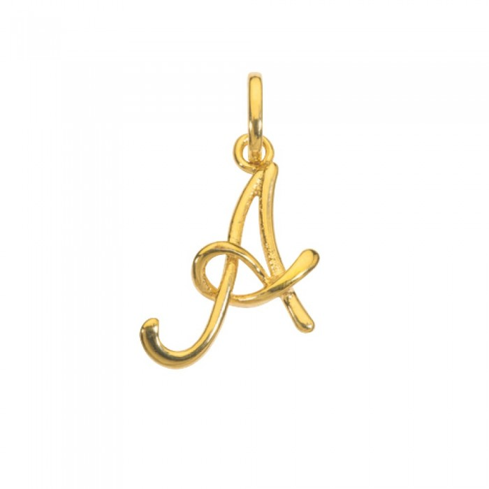Gold plated pendant letter A 320086 Laval 1878 14,90€