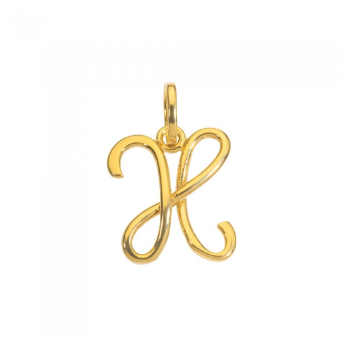 Gold plated pendant letter X 320109 Laval 1878 14,90€