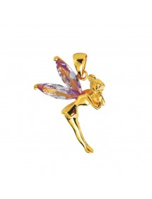 Fairy pendant in gold plated and zirconium oxide Lavender 326840 Laval 1878 26,90 €