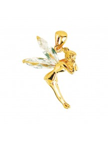 Fairy pendant in gold plated and white zirconium oxides 26,90 € 26,90 €