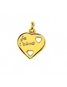 """Gold plated heart pendant """"Je t'aime"""" 326537 Laval 1878 19,00€"""