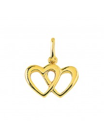 Pendant 2 hearts intertwined in gold plated 326532 Laval 1878 12,90€