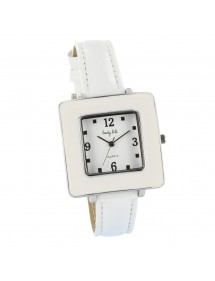 Montre carré Lady Lili - blanche