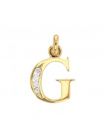 Initial pendant in gold plated and zirconium oxides - Letter G 23,00 € 23,00 €