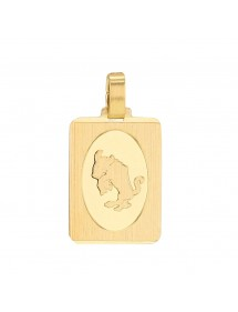 Gold Plated Zodiac Sign Rectangle Pendant - Taurus 3260215 Laval 1878 34,90 €