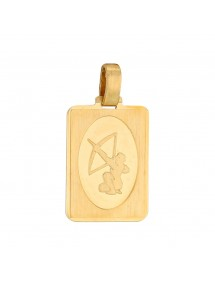 Gold Plated Zodiac Sign Rectangle Pendant - Sagittarius 34,90 € 34,90 €