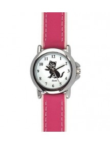DOMI educational watch, cat pattern, pink synthetic bracelet 754896 DOMI 29,90 €