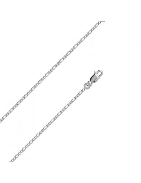 Chaîne de cou argent maille figaro double, diamètre 0.50 mm - 50 cm 317182 Laval 1878 23,50€