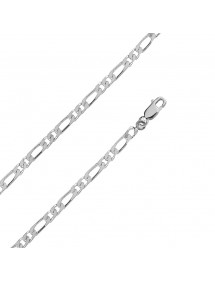 Neck chain silver double figaro mesh, diameter 1,20 mm - 60 cm 71,00 € 71,00 €