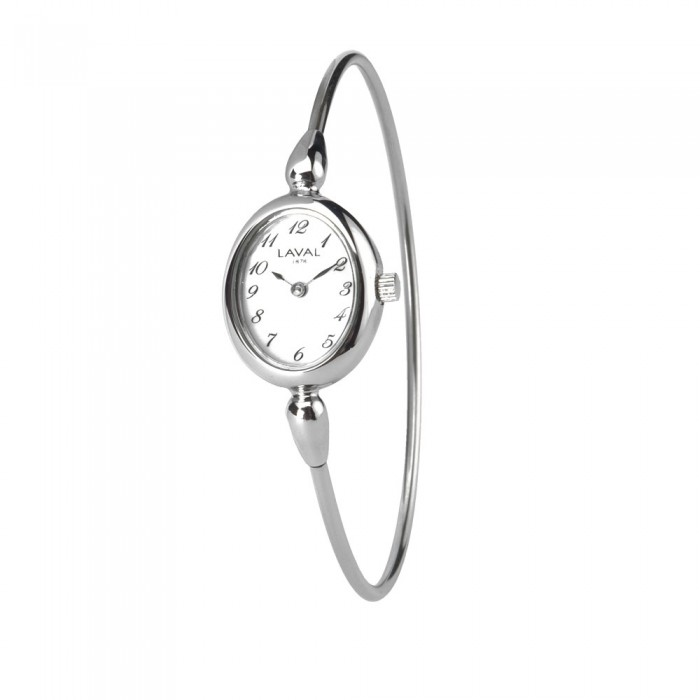 Women's round-arm watch with silver oval dial 754637 Laval 1878 139,00€