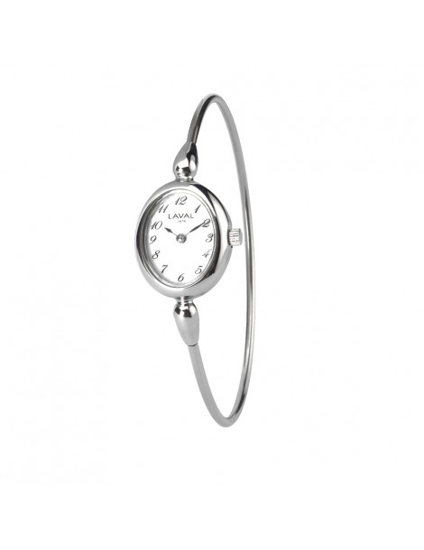 Women's round-arm watch with silver oval dial 754637 Laval 1878 129,00€