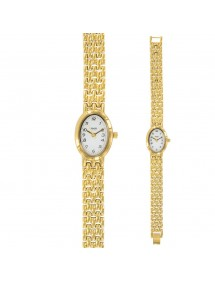 Women's gilt round watch with oval dial 750853D Laval 1878 79,90 €