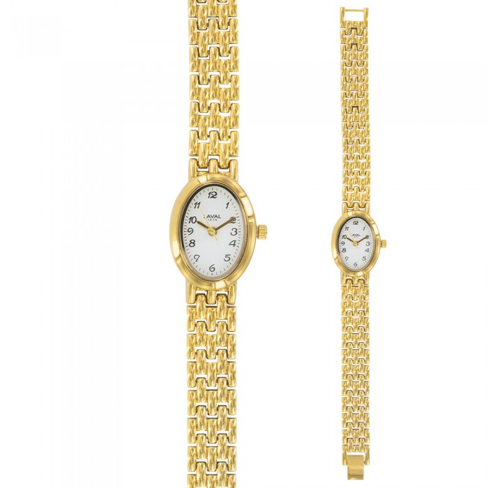 Women's gilt round watch with oval dial 750853D Laval 1878 89,90€