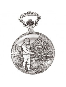 LAVAL pocket watch, palladium with lid and fisherman motif 755127 Laval 1878 119,00 €