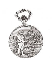 Montre de poche LAVAL en palladium avec couvercle motif pêcheur 99,00€ 99,00€